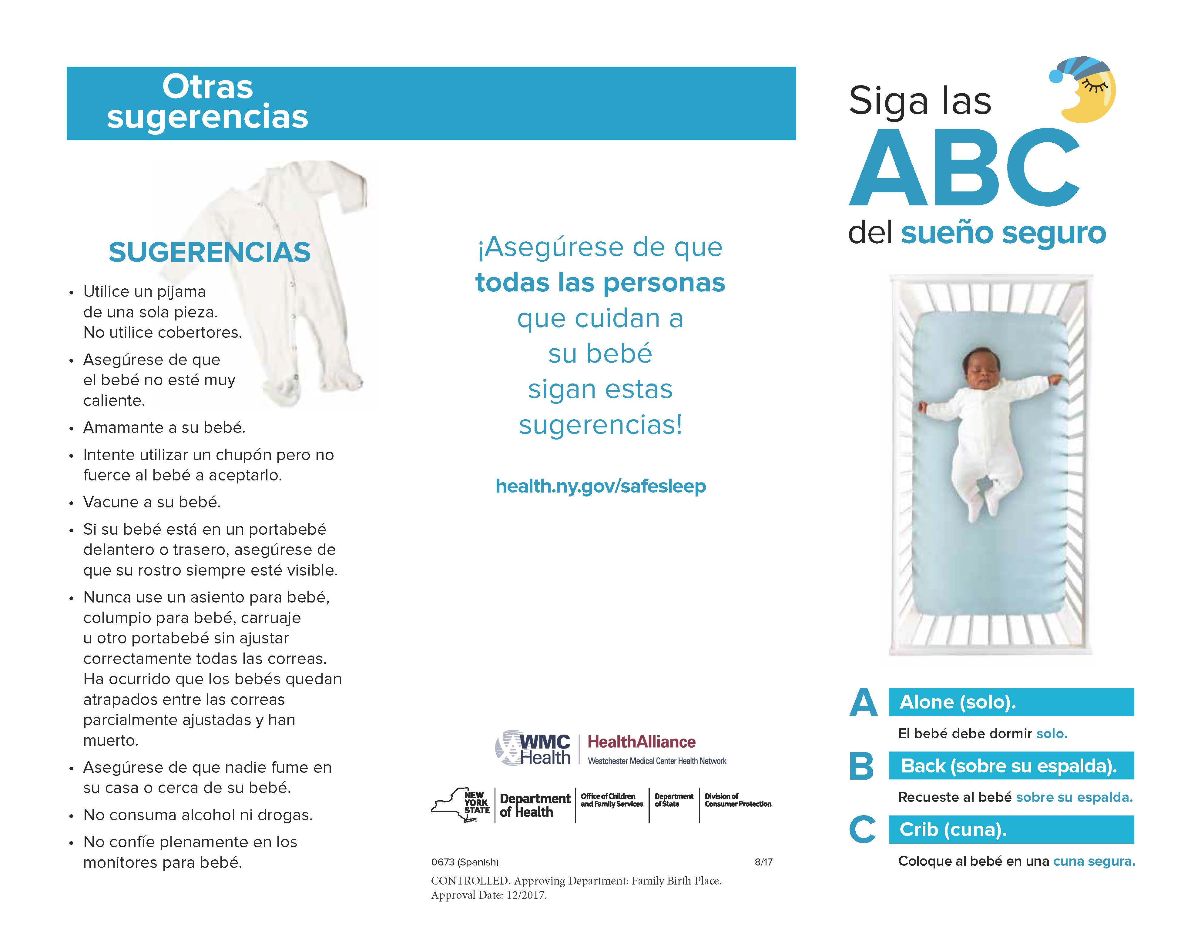 spanish sleep pamphlet